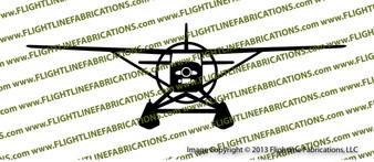 Cessna 185 Floats FRONT Vinyl Die-Cut Sticker / Decal VSFC185F