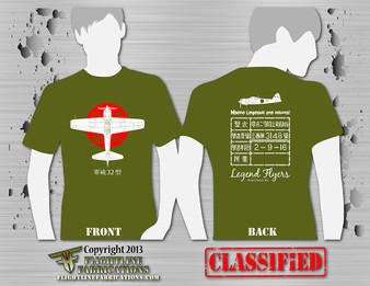 Legend Flyers A6M3 Type 32 Zero ODGREEN T-Shirt