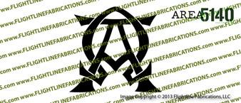 ALPHA AND OMEGA Christian Bible GOD Vinyl Die-Cut Sticker / Decal VSA51AO