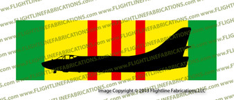 "10"" x 3"" Vietnam Service Ribbon with A-3 SkyWarrior Profile SRVCA3S"
