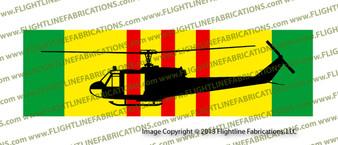 """10"""" x 3"""" Vietnam Service Ribbon UH-1c Iroquois Profile SRVCUH1C"""