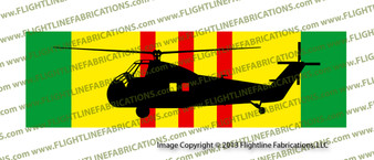 """10"""" x 3"""" Vietnam Service Ribbon with Sikorsky H-34 Choctaw Helicopter SRVH34S"""