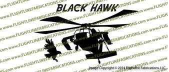 UH-60 Blackhawk Action Vinyl Die-Cut Sticker / Decal VSAUH601