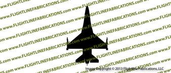 F-16 Fighting Falcon Top Vinyl Die-Cut Sticker / Decal VSTF16