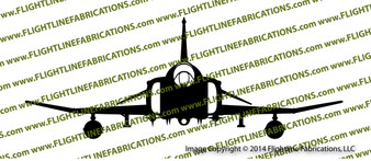 F-4 CD Phantom II Front Vinyl Die-Cut Sticker / Decal VSFF4CD