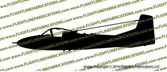 Cessna T-37 Tweet  A-37 Dragonfly Profile Vinyl Die-Cut Sticker / Decal VSPT37