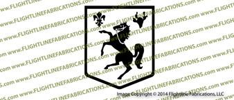 WWII 113th Cavalry Regiment Crest Vinyl Die-Cut Sticker / Decal VSE113