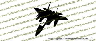 USAF F-15 Eagle Fighter ACTION Vinyl Die-Cut Sticker / Decal VSAF15