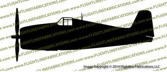 F6F Hellcat Carrier-Based Fighter PROFILE Vinyl Die-Cut Sticker / Decal VSFP6F