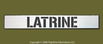 Latrine WWII Hand Made Wood Sign