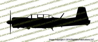 Nanchang CJ-6 PROFILE Vinyl Die-Cut Sticker / Decal VSPCJ6