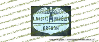 WWII B-17 Flying Fortress Madras Army Air Base Hand Made Wood Sign