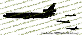 KC-10 Extender Refueling F-18 Hornets PROFILE Vinyl Die-Cut Sticker / Decal VSPKC10F18