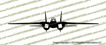 Grumman F-14 Tomcat FRONT Vinyl Die-Cut Sticker / Decal VSFF14