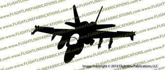 McDonnell Douglas F/A-18 F-18 Hornet ACTION v2 Vinyl Die-Cut Sticker / Decal VSAF18V2