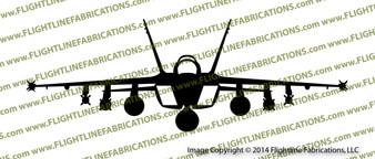 McDonnell Douglas F-18e Hornet FRONT Vinyl Die-Cut Sticker / Decal VSFF18E