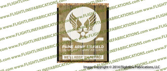 WWII Paine Army Airfield Hand Made Wood Sign