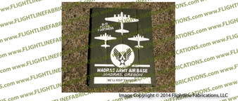 WWII Madras Army Air Base B-17 Flying Fortress LARGE Hand Made Wood Sign