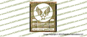 WWII Madras Army Air Base 2 LARGE Hand Made Wood Sign