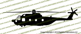 HH-3F Pelican Helicopter PROFILE Sticker Vinyl Die-Cut Sticker / Decal VSPHH3F