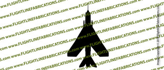 F-6 English Lightning TOP Vinyl Die-Cut Sticker / Decal VSTEF6T