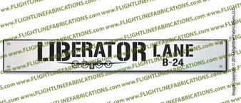 "LIBERATOR LANE : Hand Made Wood Door Sign 4"" x 24"" Hand Distressed"