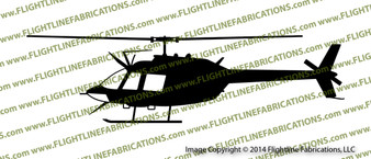 OH-58 Kiowa Observation Scout Helicopter PROFILE Vinyl Die-Cut Sticker / Decal VSPOH58A