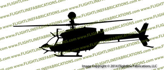 OH-58D Kiowa Observation Scout Helicopter PROFILE Vinyl Die-Cut Sticker / Decal VSPOH58D