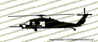 160th SOAR MH-60L DAP BLACKHAWK Helicopter PROFILE Vinyl Die-Cut Sticker / Decal VSPMH60L