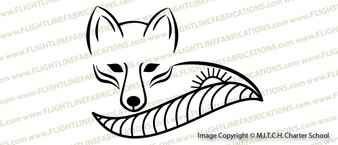 MITCH Charter School Fox Logo Vinyl Sticker Decal