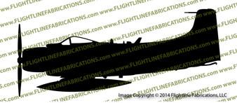 A-1J AD7 Skyraider Profile Vinyl Die-Cut Sticker / Decal VSPA1J