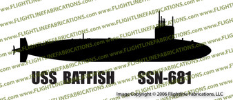 SSN-681 USS  Batfish US Navy Sturgeon Class Submarine Vinyl Die-Cut Sticker / Decal VSSSN681