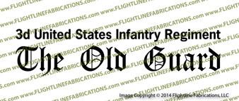 3rd United States Infantry Regiment THE OLD GUARD Banner Vinyl Die-Cut Sticker / Decal VSB3OG