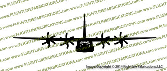 C-130J Super Hercules Transport Aircraft FRONT Vinyl Die-Cut Sticker / Decal VSFC130J