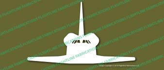 NASA Space Shuttle Front Vinyl Die-Cut Sticker / Decal VSFSPF