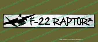 """F-22 Raptor Lockheed Martin 4""""x24"""" Distressed Hand Made Wood Door Sign"""