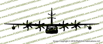 EC-130J Commando Solo Aircraft FRONT Vinyl Die-Cut Sticker / Decal VSFEC130J