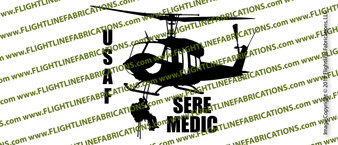 UH-1 Helicopter SERE MEDIC USAF Action Sticker Vinyl Die-Cut Sticker / Decal VSPUH1SM