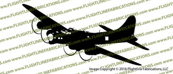 B-17G Flying Fortress Action Sticker Vinyl Die-Cut Sticker / Decal VSAB17G