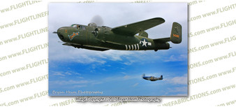 WWII B-25 Mitchell Barbie III & P-51 Mustang 8x12 Matte Finish Professional Photograph Doolittle Raiders Gathering of B-25's - Grimes, Urbana Ohio