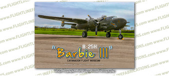 WWII B-25 Mitchell Barbie III  Wright-Patterson 8x12 Matte Finish Professional Photograph Doolittle Raiders Gathering of B-25's - Wright-Patterson Air Force Base Dayton, Ohio