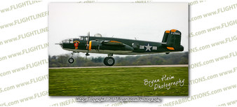 WWII B-25 Mitchell Champaign Gal 8x12 Matte Finish Professional Photograph Doolittle Raiders Gathering of B-25's - Grimes Urbana, Ohio - Champaign Aviation Museum