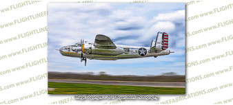 WWII B-25 Mitchell God & Country 8x12 Matte Finish Professional Photograph Doolittle Raiders Gathering of B-25's - Grimes Urbana, Ohio - Mid American Flight Museum