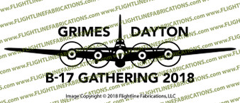 WWII Bomber B-17G Flying Fortress Gathering of B-17's Front Vinyl Die-Cut Sticker / Decal VSB17F2018
