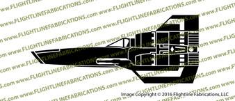 Battlestar Galactica 1978 Viper Mark I Vinyl Die-Cut Sticker / Decal VSBSGM1P