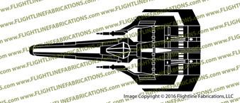 Battlestar Galactica 1978 Viper Mark I TOP Vinyl Die-Cut Sticker / Decal VSBSGM1T