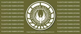 Battlestar Galactica LOGO v1 Vinyl PRINTED Sticker / Decal VSBSGL1