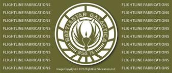 Battlestar Galactica LOGO v2 Vinyl PRINTED Sticker / Decal VSBSGL2