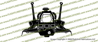 Battlestar Galactica Raptor FRONT Vinyl Die-Cut Sticker / Decal VSBSGRF