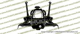 Battlestar Galactica Raptor FRONT Vinyl Die-Cut Sticker / Decal VSBSGRF